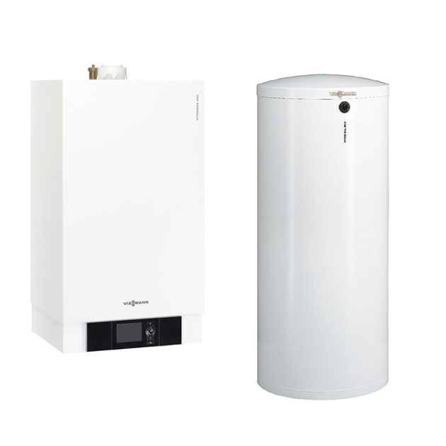 viessmann gas paket vitodens 300 w 19 kw edelstahl speicher 300 w 160 l vitocell ebay. Black Bedroom Furniture Sets. Home Design Ideas