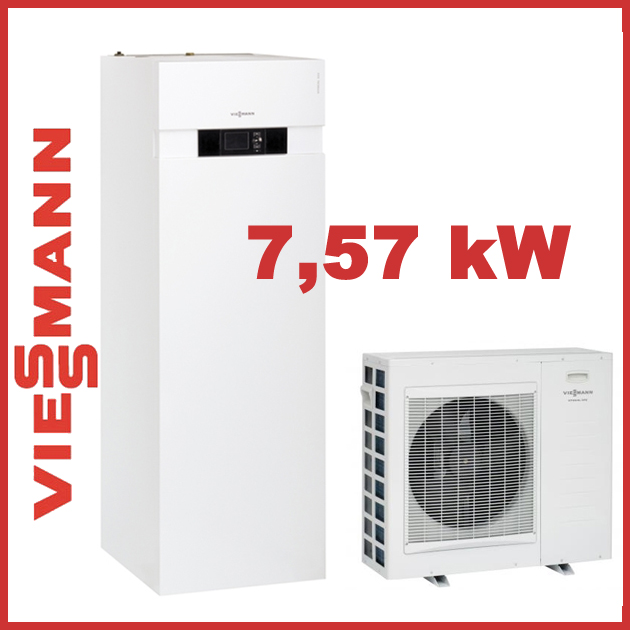 viessmann luft wasser w rmepumpen kompakt vitocal 222 s typ awt ac221 b10 7 57kw ebay. Black Bedroom Furniture Sets. Home Design Ideas