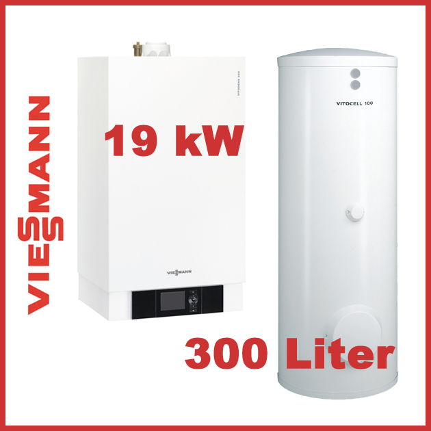 viessmann paket vitodens 300 w 19 kw mit vitotronic 200 und vitocell 100 w 300 l ebay. Black Bedroom Furniture Sets. Home Design Ideas