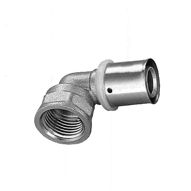 Kupplung 20x2,25 mm U Pressfitting Heizung Sanitär Kontur U